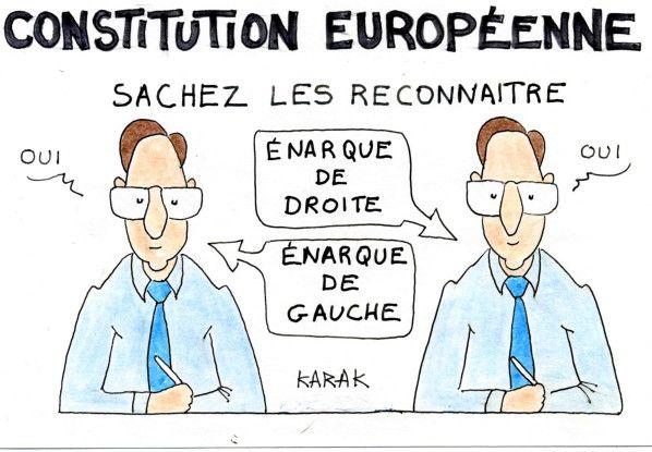 Dessin réalisé durant le référendum sur la Constitution Européenne