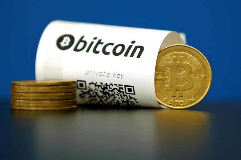 Illustration de la monnaie virtuelle le Bitcoin