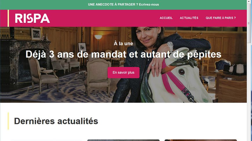 Rispa.fr, le site parodique des Républicains de Paris.