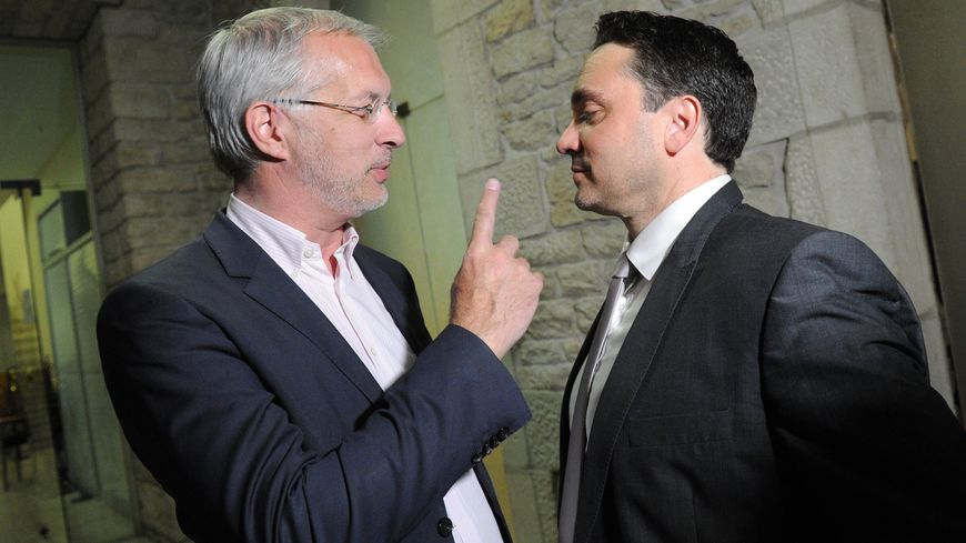 Christophe Perny ( à gauche) et Cyrille Brero lors du 2e tour des départementales en 2015 ( photo archives)