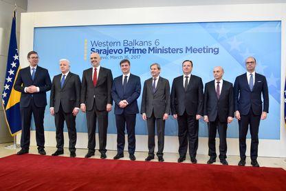 Sommet diplomatique entre l'Union Européenne et les pays des Balkans à Sarajevo le 16 mars