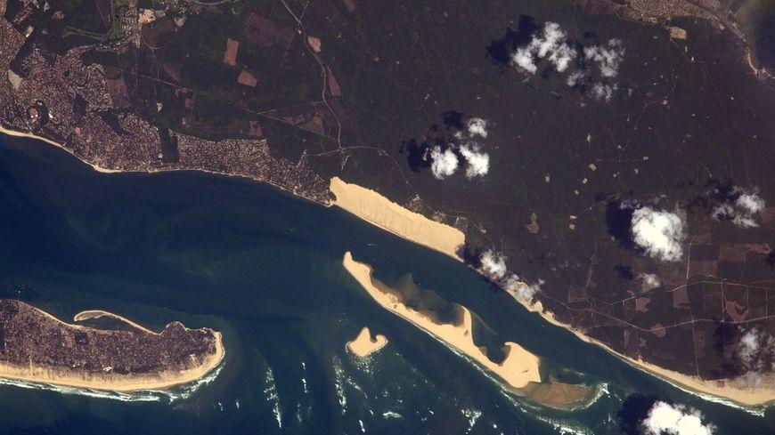 La dune du Pïlat par Thomas Pesquet depuis l'ISS