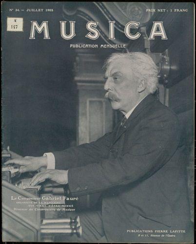 Fauré à l'orgue de l'Eglise de la Madeleine (Revue Musica 1905)