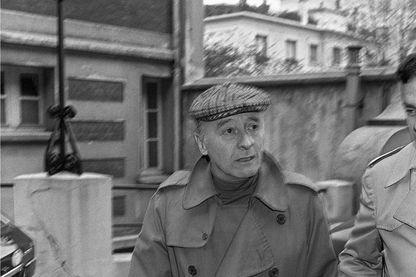 Le scénariste et dialoguiste Michel Audiard, le 15 novembre 1976