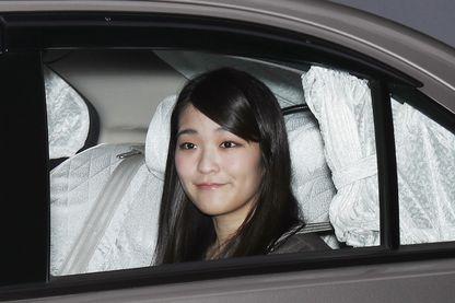 La princesse Mako qui quitte sa maison le 18 mai 2017