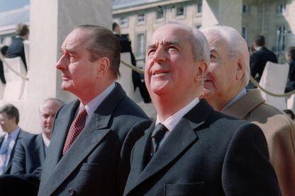 Jacques Chirac et Edouard Balladur en avril 1995.