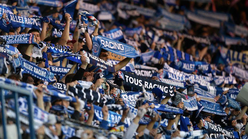 Un stade de la Meinau plein à craquer célèbre la victoire et la remontée du Racing en Ligue 1.