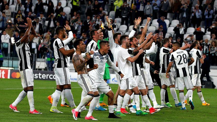 Les joueurs de la Juventus Turin lors du match AS Monaco - Juventus Turin