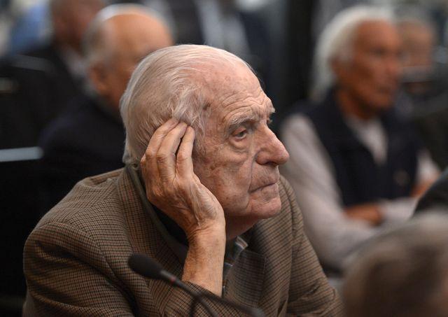 Reynaldo Bignone 89 ans, a été le dernier dirigeant (1982-1983) de la junte militaire en Argentine.
