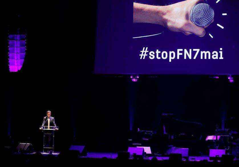 Le directeur de la Cité de la Musique Laurent Bayle lors du rassemblement contre le FN, le 2 mai 2017.