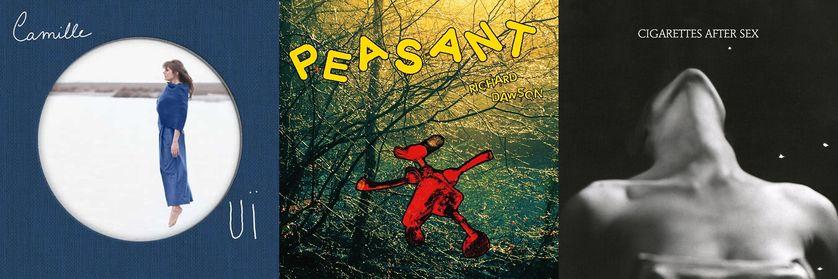 """Couvertures albums """"Ouï"""", """"Peasant"""" et """"Cigarettes after sex"""""""