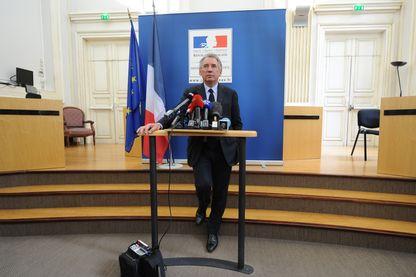 Le garde des sceaux François Bayrou en conférence de presse à Pau. Il est en charge de la future loi sur la moralisation de la vie publique - 19 mai 2017