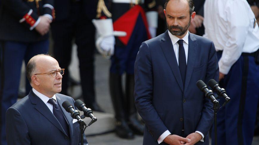 Bernard Cazeneuve quitte Matignon où Édouard Philippe le remplace, le 15 mai 2017