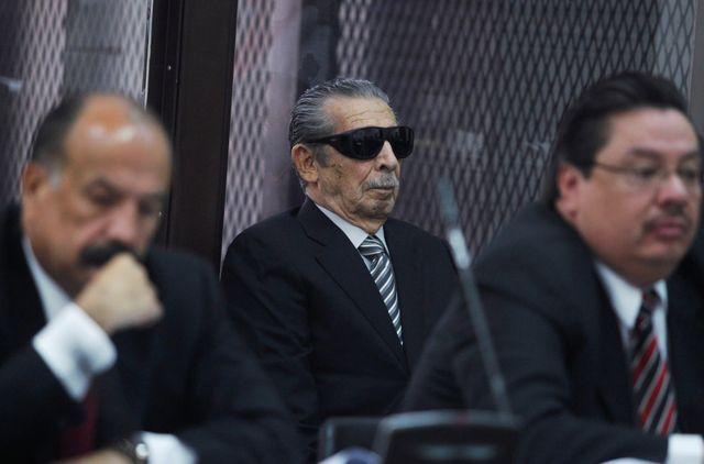 Efrain Rios Montt à la Cour suprême de Guatemala City en 2013 où il fut condamné à 80 ans de prison pour génocide et crimes contre l'humanité