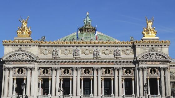 Façade de l'Opéra Garnier de Paris.