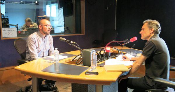 France Musique, studio 142, pendant l'émission ! ... Benoît Dratwicki & Philippe Venturini (de g. à d.)