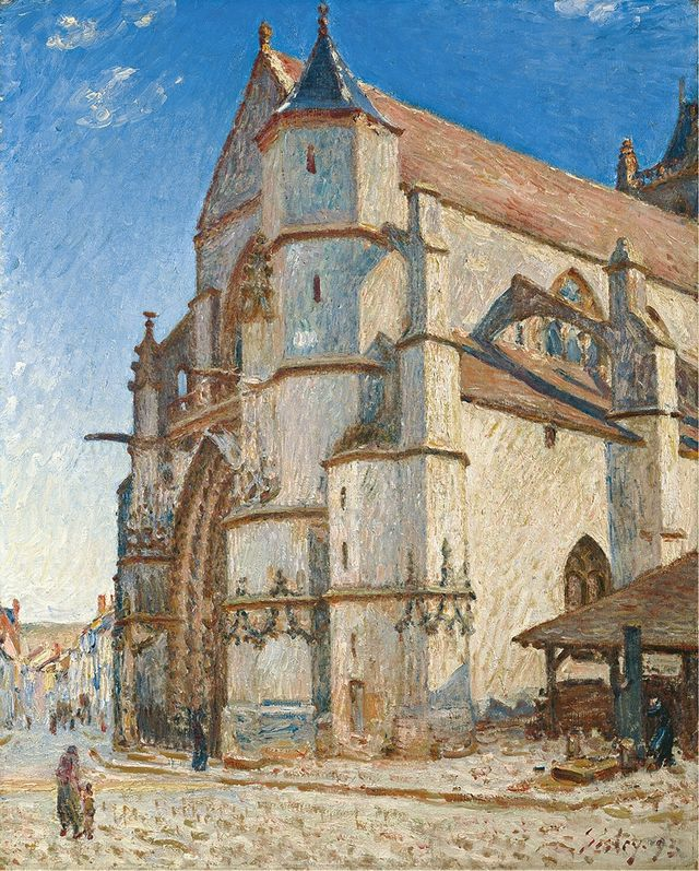 Sisley église à Moret 1893