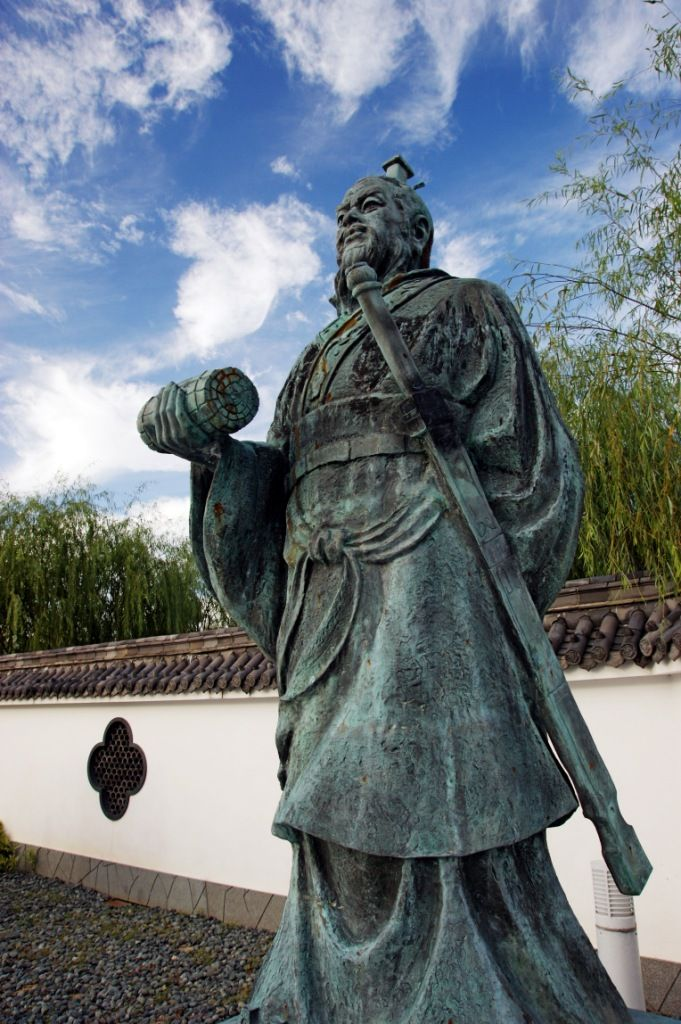 Statue de Sun Tzu à Yurihama, Tottori, Japon