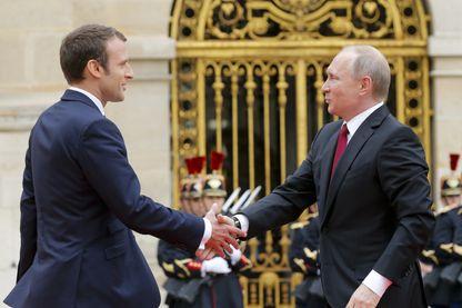 Emmanuel Macron a rencontré aujourd'hui le président russe Vladimir Poutine au Château de Versailles