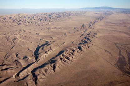 Faille de San Andreas dans la plaine de Carrizo, Californie