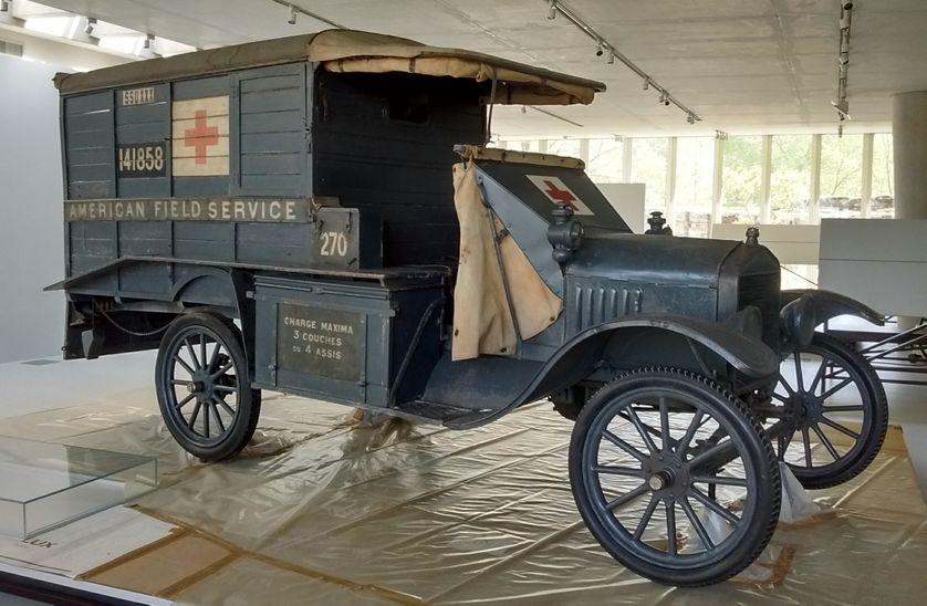 Ambulance de l'American Field Service, Voiture Ford T, 1917.