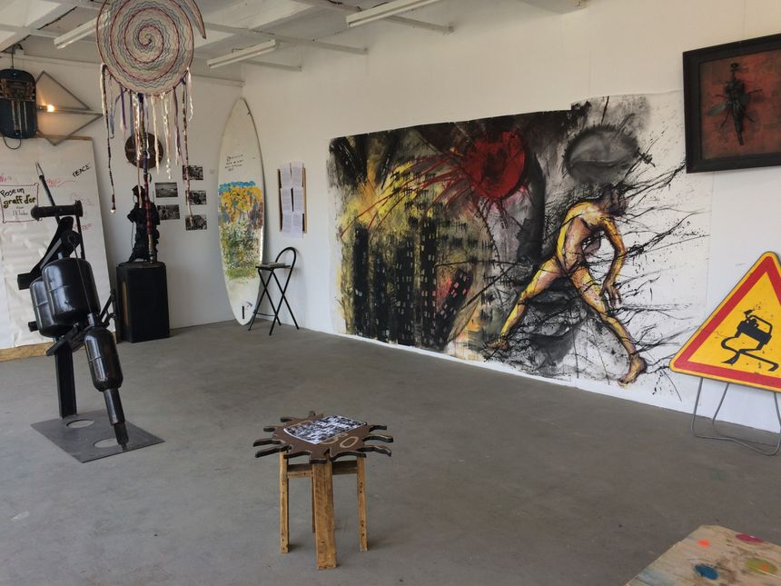 La salle d'exposition du 48, bd Villebois-Mareuil