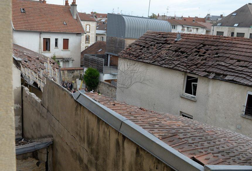 Après l'explosion d'un immeuble de la rue Palliot à Dijon