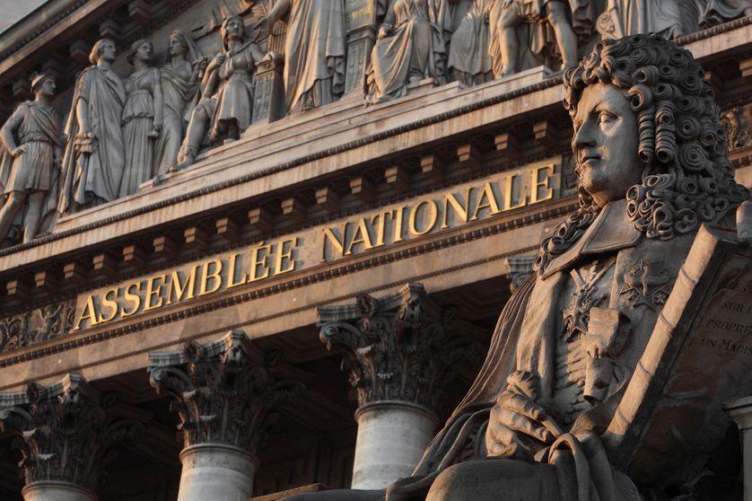 Façade du Palais Bourbon à Paris, siège de l'Assemblée Nationale