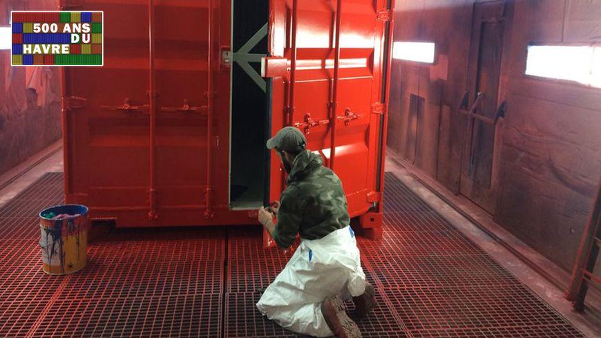La double arche de conteneurs sera installée Quai Southampton au Havre.
