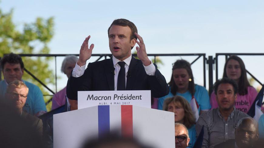 Emmanuel Macron en meeting, le 4 mai 2017.