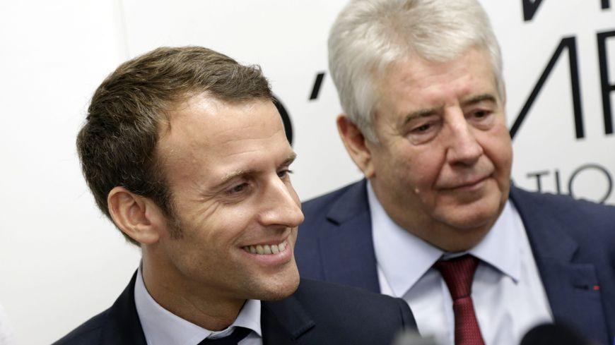 Emmanuel Macron et Jean Louis Fousseret, en septembre 2016 lors de sa venue à Besançon