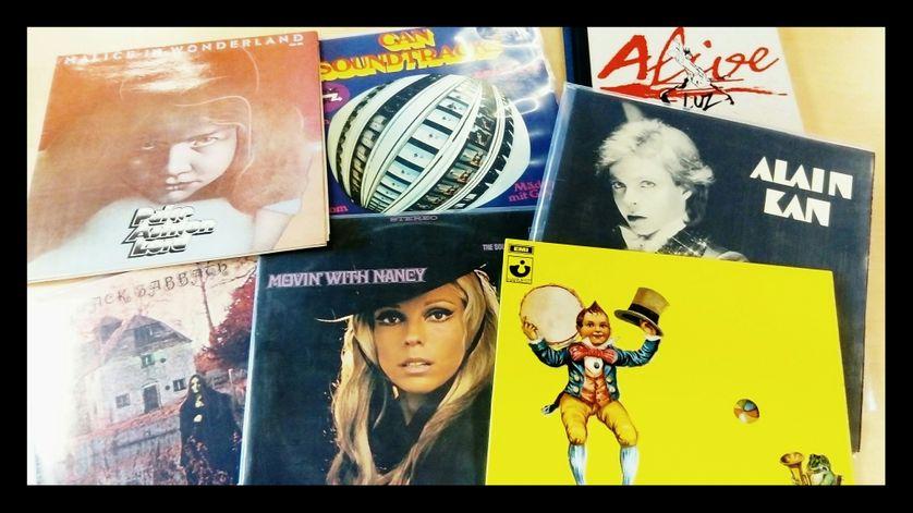 Une partie de la sélection vinyle de Luz