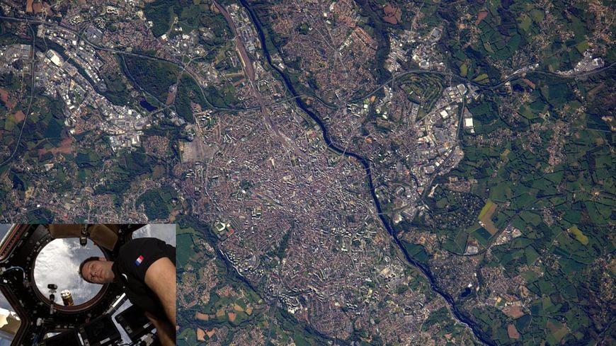 Un cliché de Limoges pris par Thomas Pesquet depuis la station spatiale internationale (ISS)
