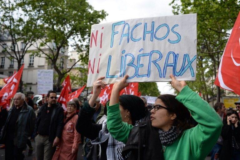 1er mai: la principale manifestation parisienne a rassemblé 30 000 personnes selon la police, 80 000 d'après la CGT