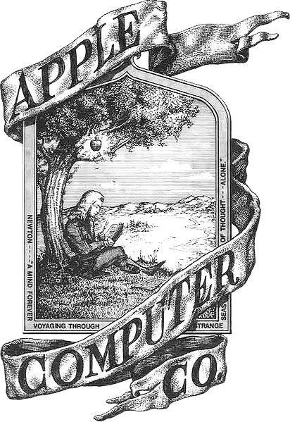 Apple's absolute first logo, pre 1976. Drawn by then co-founder Ronald Wayne.