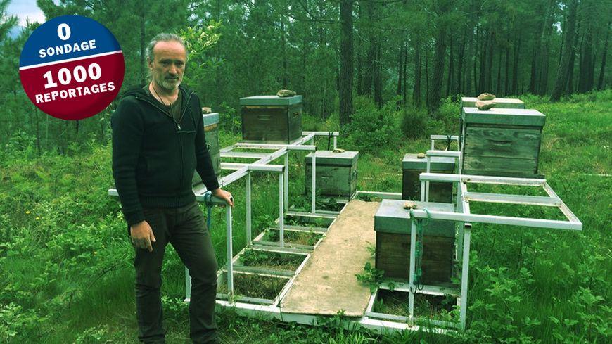 Olivier Belval, apiculteur près de Banne dans le Sud Ardèche, a perdu 75% de ses abeilles cet hiver.