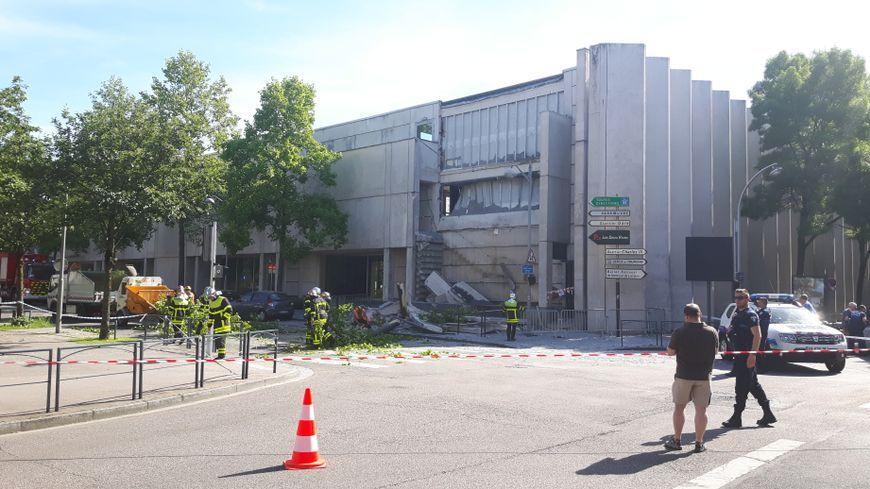 L' école d'architecture de Nancy après l'effondrement de la façade