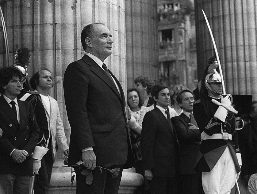 François Mitterrand au Panthéon le jour de son investiture, le 21 mai 1981