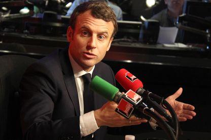 Emmanuel Macron au lendemain du débat de l'entre-deux tours de la présidentielle 2017