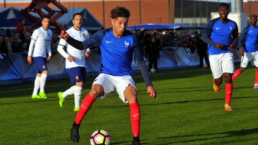 Amine Harit, ici face au Portugal, sous le maillot de l'équipe de France U20