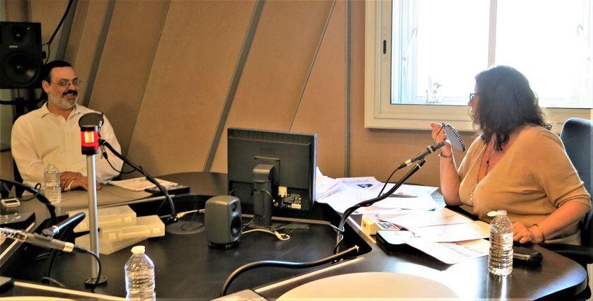 France Culture, studio 152, pendant l'émission... Olivier Ivanoff & Aline Pailler