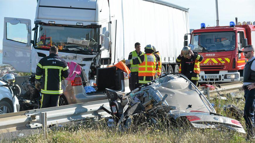 L'accident s'est produit ce lundi sur la départementale 612 à hauteur du radar entre Sète et Frontignan