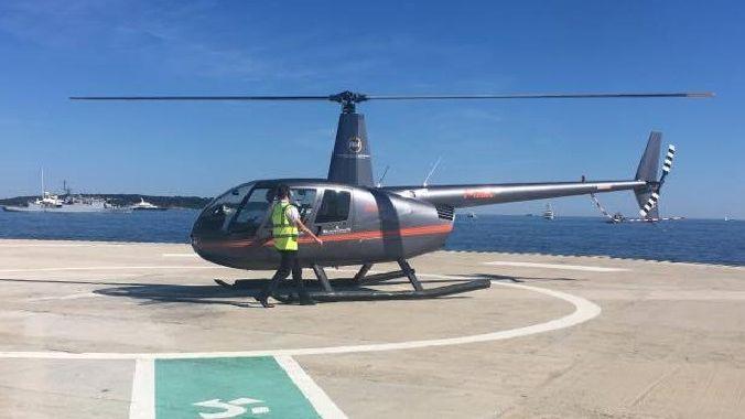 Un UberCopter avant décollage