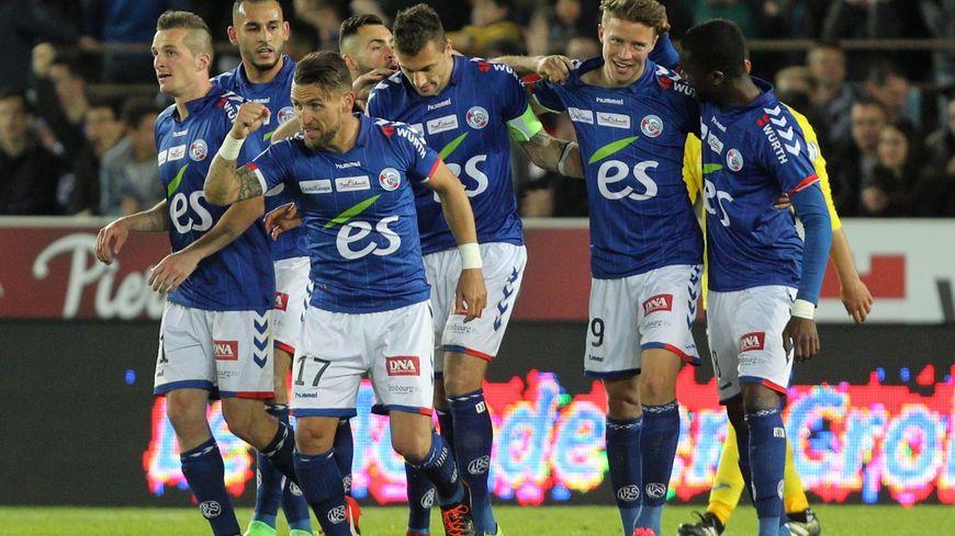 Le Racing club de Strasbourg à une victoire de la Ligue 1.