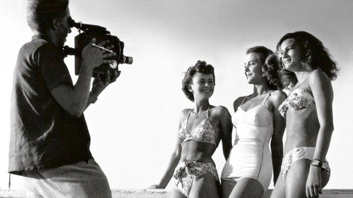 Starlettes sur la Croisette en 1947