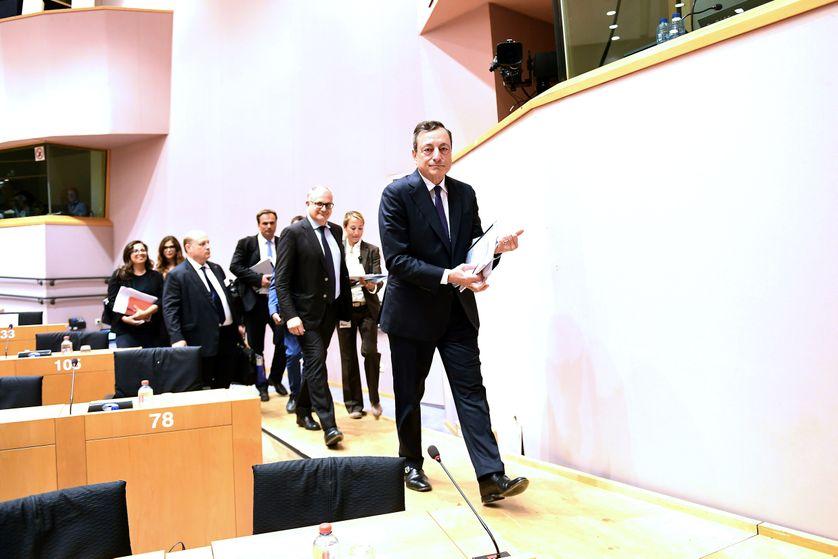 Mario Draghi à son arrivée à Bruxelles