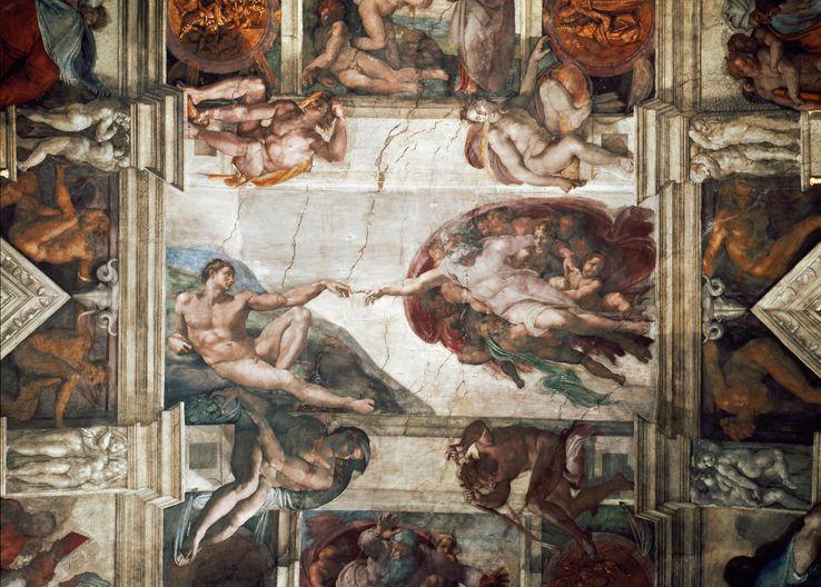 Plafond De La Chapelle Sixtine Idees D Images A La Maison