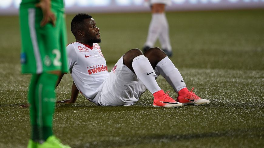 Serge N'Guessan, abattu après la relégation en Ligue 2