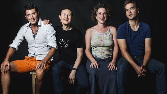 Quatuor Anches Hantées : Elise Marré, Bertrand Hainaut, Nicolas Châtelain et Romain Millaud, clarinettes