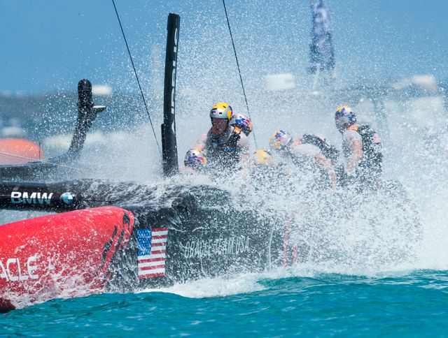 Coupe de l'America : Team Oracle USA,  avec Jimmy Spithill